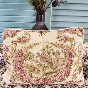 Small Shabby Chic Vintage Tapestry Pillow